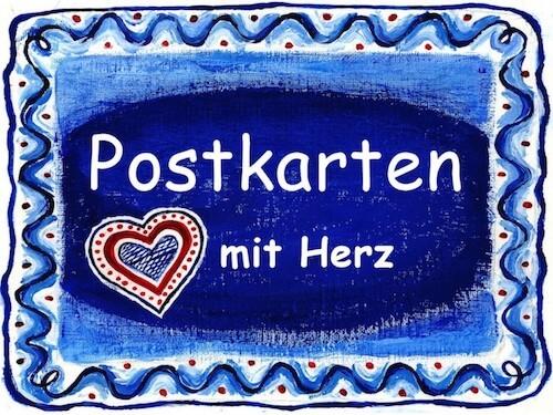 Postkarten mit Herz